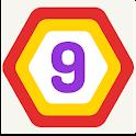 UP 9 Hexa Puzzle! Merge em all icon