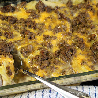 Hamburger Potato Casserole.