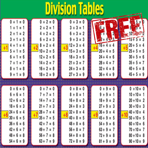Math division table android apps on google play for Table de division de 99
