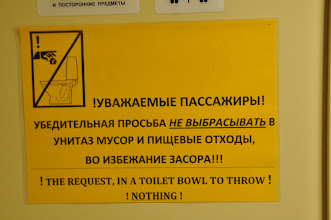 "Photo: The only sentence in ""English"" in the whole train :-)"