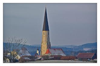 Photo: Schildthurn 2012 Mit 78 Metern Höhe ist der Schilthurner Kirchturm der höchste Dorfkirchtum  in Bayern !
