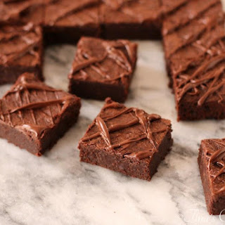 Flourless Chocolate And Peanut Butter Fudgy Brownies