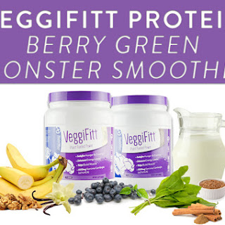 VeggiFitt Protein Berry Green Monster Smoothie