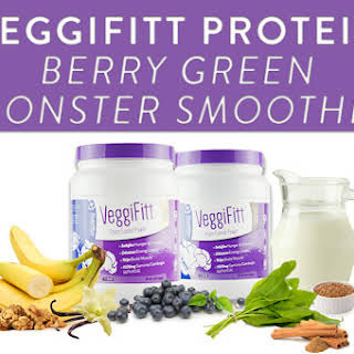 VeggiFitt Protein Berry Green Monster Smoothie.