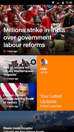 Screenshot 0 for Al Jazeera's Android app'