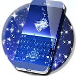 Blue Diamond Glitter Keyboard