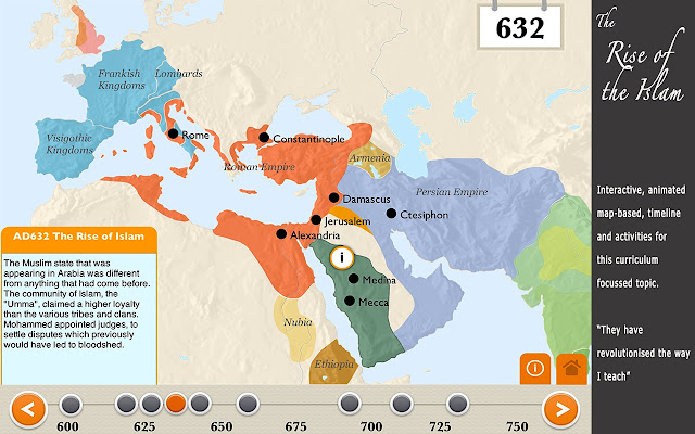 The rise of islam history map chrome web store an error occurred gumiabroncs Gallery