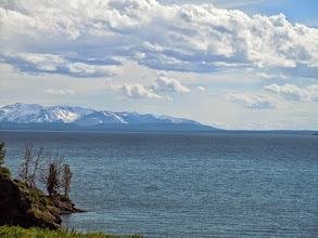 Photo: View across Yellowstone lake, on the way out