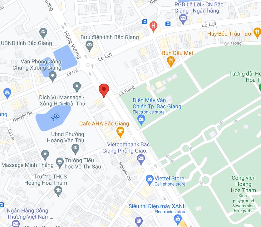 Điểm đón/trả khách tại Bắc Giang