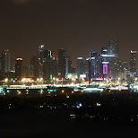 incredible Miami skyline taken from Mondrian Hotel in Miami, Florida, United States