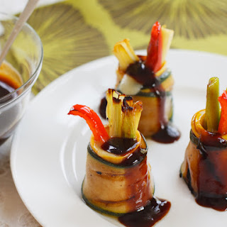 BBQ Teriyaki Vegetable & Cheddar Rolls.