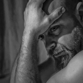 Teen dad by Annelie Hallberg - People Portraits of Men ( Emotion, portrait, human, people )