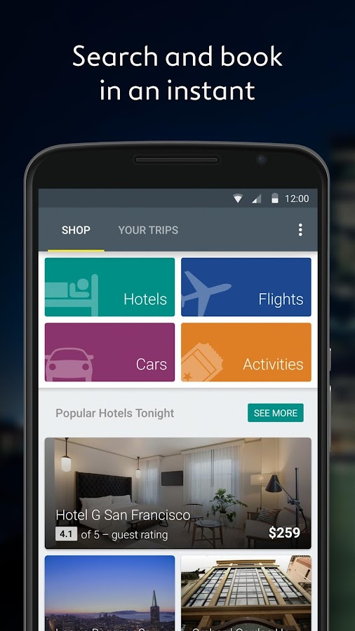 Expedia Hotels, Flights & Cars - screenshot