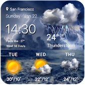 Thunderstorm Weather Widget