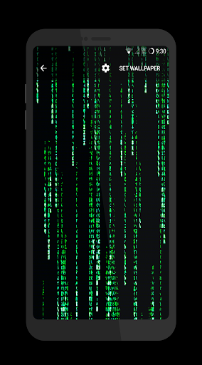 Matrix Live Wallpapers app for Android screenshot