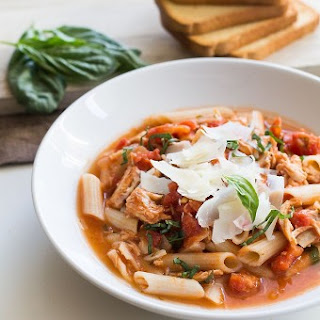 Speedy Chicken Parmesan Soup