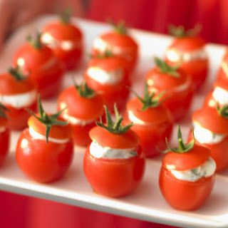 Cherry Tomatoes with Herbed Goat Cheese