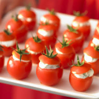 Cherry Tomatoes with Herbed Goat Cheese.