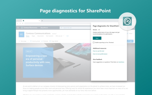 Page Diagnostics for SharePoint