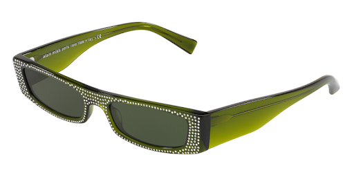 279d50a4b4aad Alain Mikli x Alexandre Vauthier Olive Green   Clear Crystals Edwidge  Sunglasses