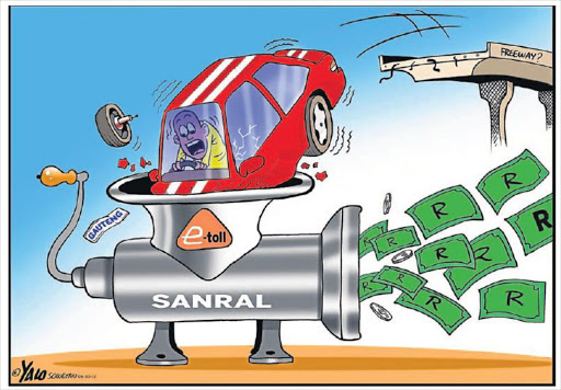 Image result for SANRAL CARTOON