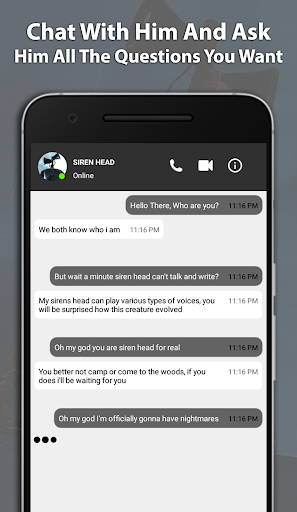 Best Scary Siren Head Fake Chat And Video Call screenshot 1