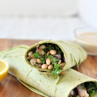 White Bean and Kale Wraps