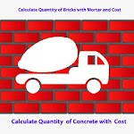 Bricks and Concrete Calculator for Civil Engineer Icon