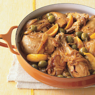 Moroccan Chicken with Green Olives and Lemon recipe | Epicurious.com.