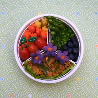 Flower Fried Rice (redux!) Bento
