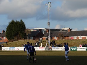 Photo: 20/02/10 v Lancaster City (Unibond League Div 1 North) 1-2 contributed by Andy Gallon and Emma Jones