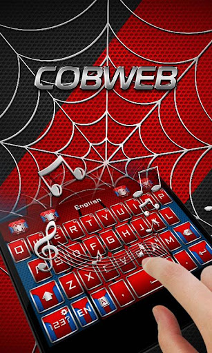 Cobweb Hero GO Keyboard Theme 4.5 screenshots 4