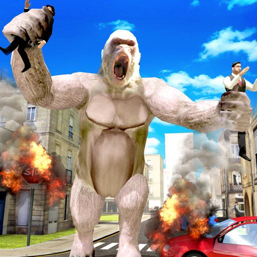 Angry Gorilla Rampage Attack Beast City Smasher (game)