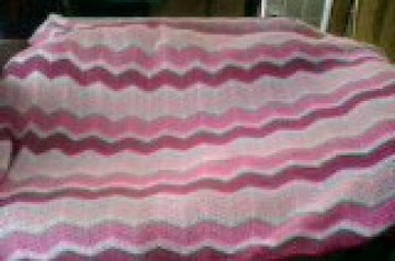 Triple Shade Of Pink Blanket Recipe