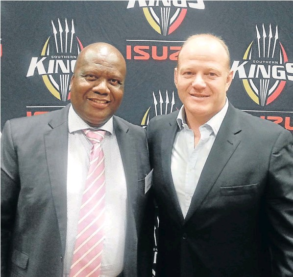 Isuzu Southern Kings chair Loyiso Dotwana and Robbi Kempson, who has been appointed high performance director
