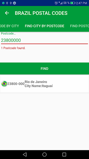 Brazil Postal Code screenshot 3