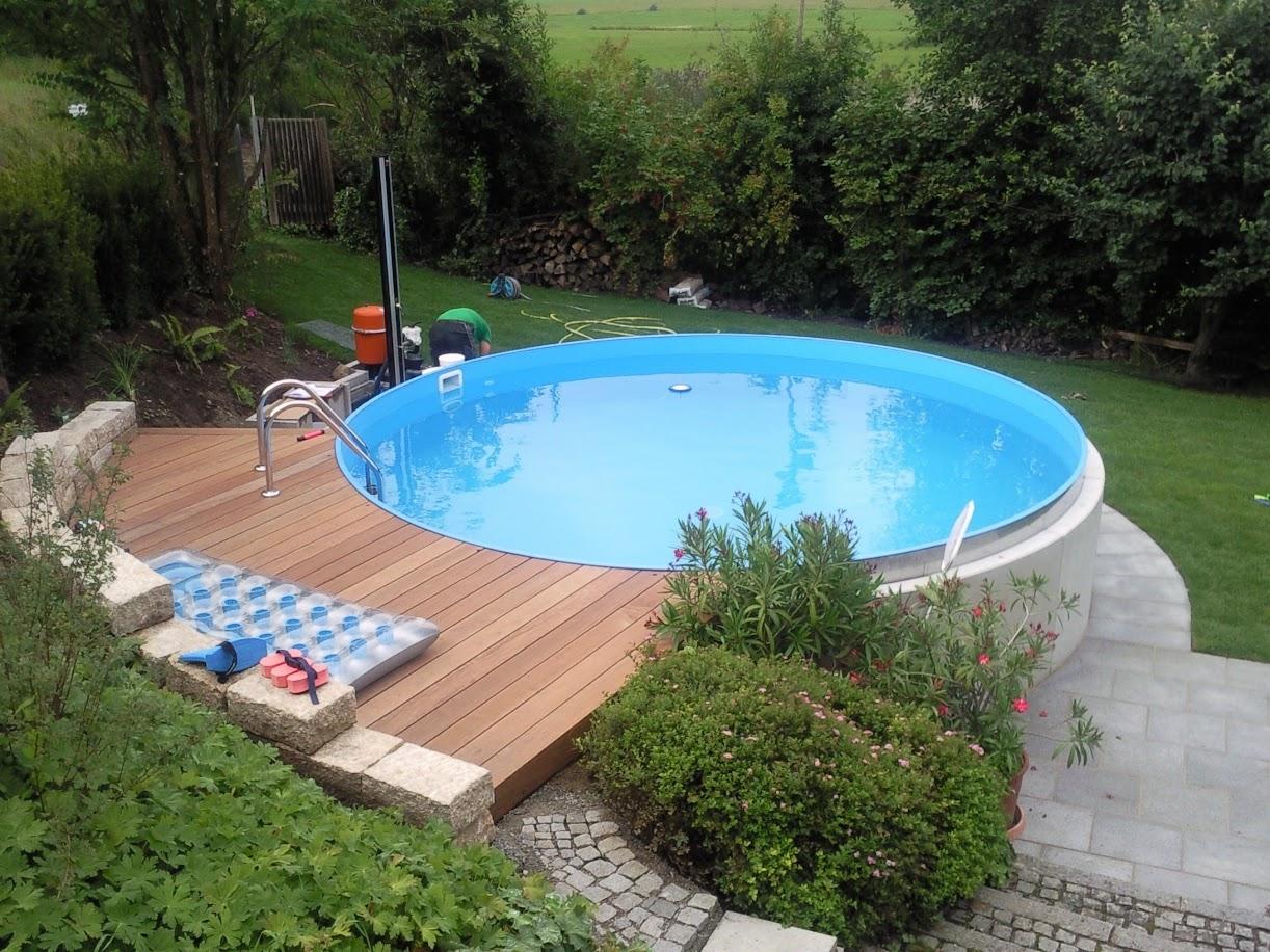 Stahlwandbecken formen und gestaltung schwaben pool for Stahlwandbecken pool