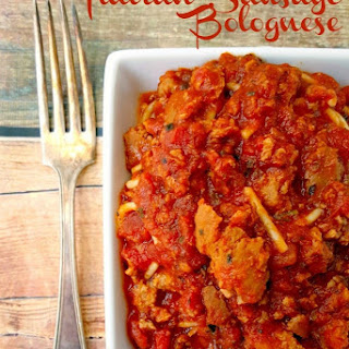 Slow Cooker Italian Sausage Bolognese