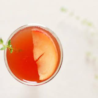 Peach & Bourbon Shrub.