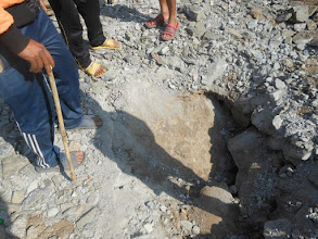 Photo: The ground being dug in order to lay the foundation for the structure