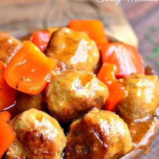 Sweet and Sour Turkey Meatballs.