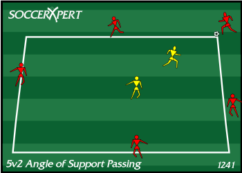 5v2 Angle of Support Passing Drill