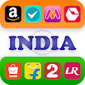 All in one india shopping browser app icon