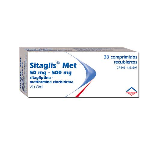 Sitagliptina + Metformina Sitaglis Met 50/500mg X 30 Comprimidos Leti