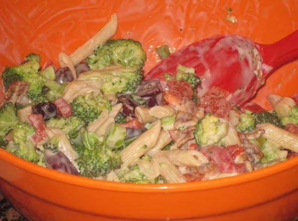 Combine all dressing ingredients in medium size bowl and mix with a whisk to...