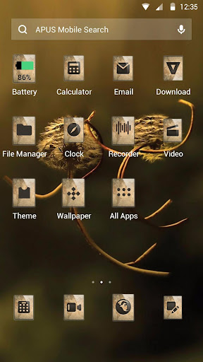 Dandelion-APUS Launcher theme - screenshot