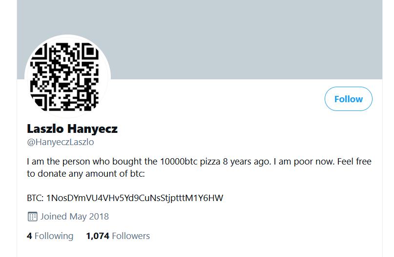 Laszlo Hanyecs twitter account fake