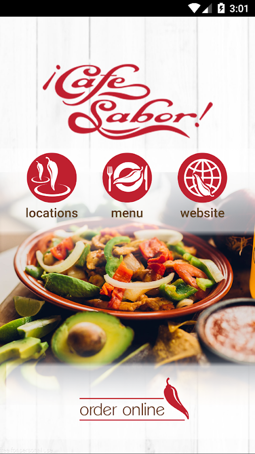 Cafe Sabor- screenshot