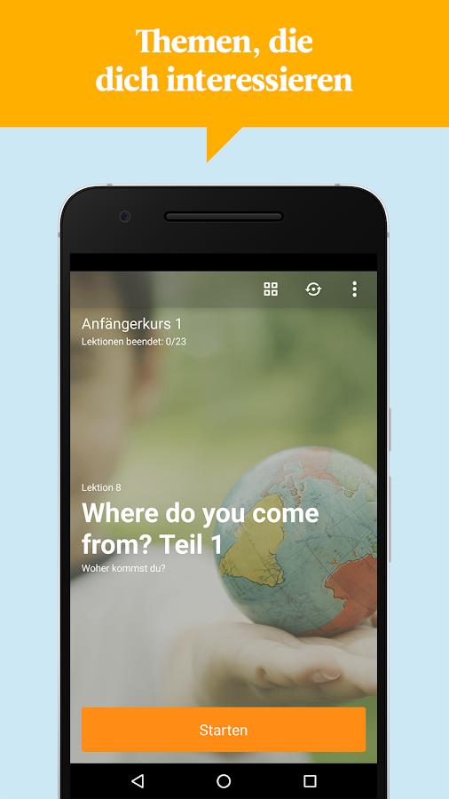 mobile auf englisch