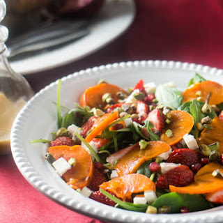Spinach and Persimmon Salad with Citrus Dressing